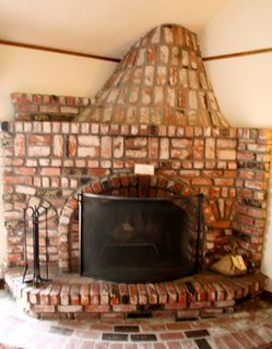 unique fireplace