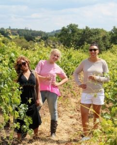 Wine Tasting in a Vineyard