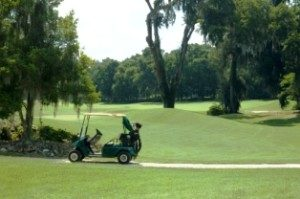 golf cart on a course