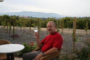 Man Drinking Wine in the Wine Country