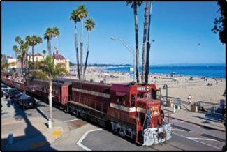 Train at Santa Cruz Beach Boardwalk