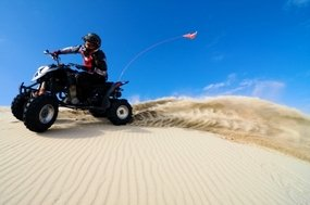 ATV on the sand