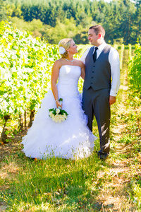 Bride Groom in Vineyard