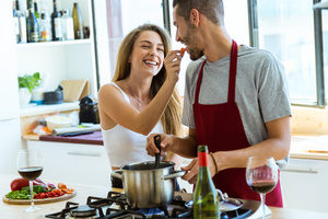 Cooking With Wine Couple