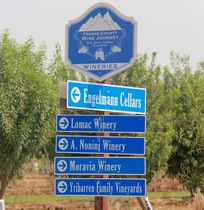 Fresno County Winery Signs