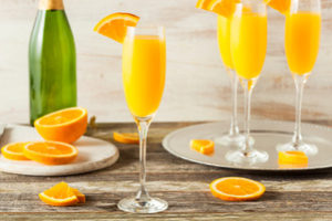 Mimosas on a Tray